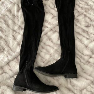 Black faux Suede Over-the-Knee boots
